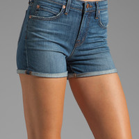 J Brand High Waisted Rolled Shorts in Ojai
