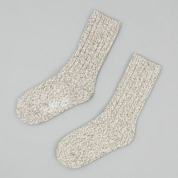 Merino Wool Ragg Socks, Oatmeal
