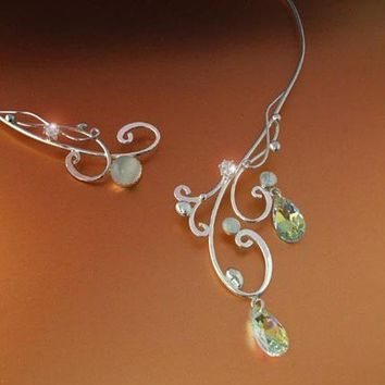 Moonlight Torc Necklace Silver Sterling Celtic by ElnaraNiall