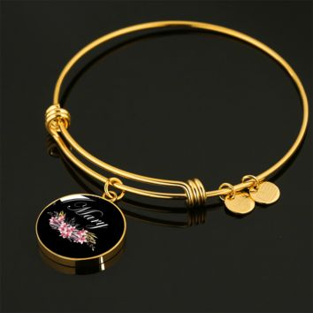 Mary v2b - 18k Gold Finished Bangle Bracelet