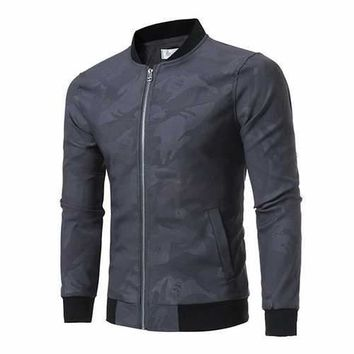 Mens Fall Skull Printing Jacket