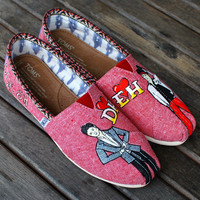 Hand Painted Custom K-pop TOMS shoes - Super Junior Korean Singers