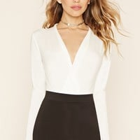 Plunging Surplice Bodysuit