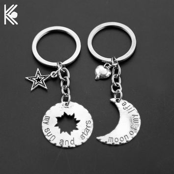 "Game Of Thrones Keychains ""Moon of My Life, My Sun and Stars"" House Stark Keyring Winter Is Coming Lovers Anniversary Gift"