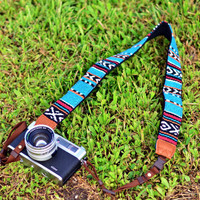 Indian Blanket camera strap suits for DSLR / SLR with by iMoShop