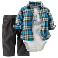 3-Piece Shirt & Pant Set