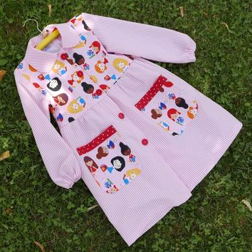 5f81668715eac Baby Toddler School Apron SMOCK Back to School PDF Sewing Patter
