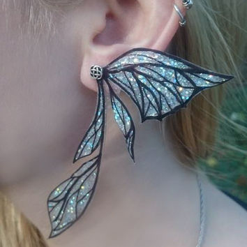 Fairy wing sparkly ear cuff