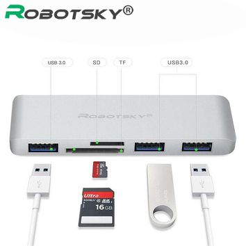 USB Type C Hub 5 in 1 USB C Hub Adapter with USB 3.0 ports SD slot Micro SD Card For MacBook Pro Chromebook Mouse Data line