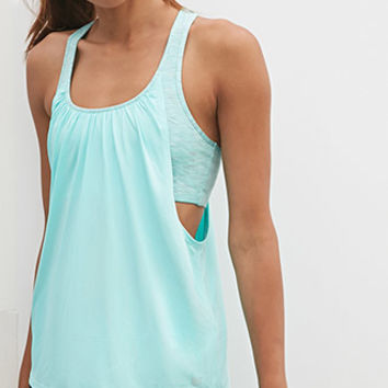 2-in-1 Space Dye Athletic Tank