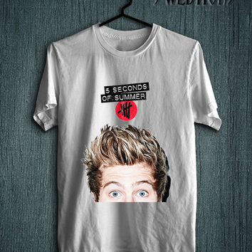 5 Seconds Of Summer 5 SOS Luke Hemmings Band Indy T Shirt White Unisex Size New Shirt - LD10