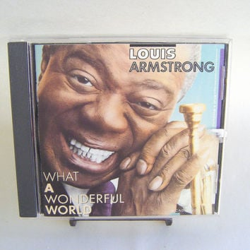 Louis Armstrong What a Wonderful World CD Vintage Used Music Jazz Soul Superstar