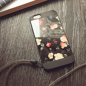 Vintage Rose Flower Case for iPhone 7 7 Plus