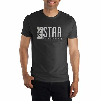 STAR Labs Laboratories Men's Black T-Shirt Tee Shirt