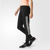 """Adidas"" Women Stripe Knit Casual Long Pants Systole Foot Sweatpants"