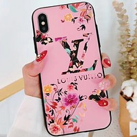 CHAMPION / LV LOUIS VUITTON Tide brand IPHONEX phone case matte embossed men and women LV LOUIS VUITTON