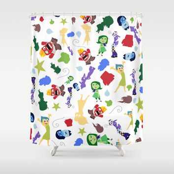 character pattern inside out Shower Curtain by Studiomarshallarts