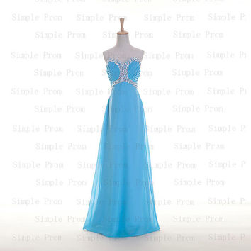 Custom A-line Sweetheart Floor-length Sleeveless Chiffon Beading Fashion Prom Dress Bridesmaid Dress Formal Evening Dress Party Dress 2013