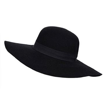 Verashome Wool Floppy Hat Felt Fedora With Wide Brim Women's Vintage Bowler 4 Colors For Ladies' any Outfits