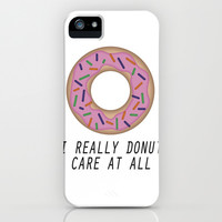 I Donut Care iPhone & iPod Case by Warped Fairies