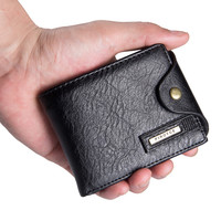 Small Wallet Men Multi-function Purse Men Wallets with Coin Pocket Zipper Men Leather Wallet Male Money Bag