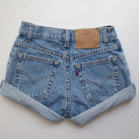 "ALL SIZES Vintage ""HERCULES"" High Waisted Denim Shorts"