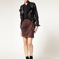 Vero Moda Very | Vero Moda Very Washed Cupro Drape Front Mini Skirt at ASOS