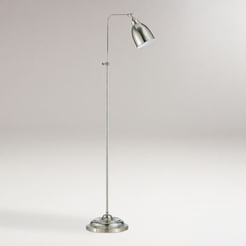 Brushed Steel Pharmacy Floor Lamp - World Market