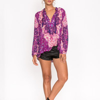 Kiss the Sky Blouse - Violet