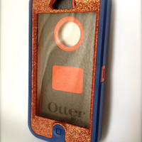 iPhone 5 Otterbox Glitter Cute Sparkly Case Defender Series for Apple iPhone 5 Frost Orange Topaz/Blue
