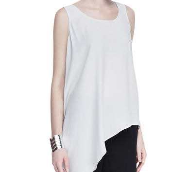 Silk Asymmetric Draped Shell, Women's - Eileen Fisher