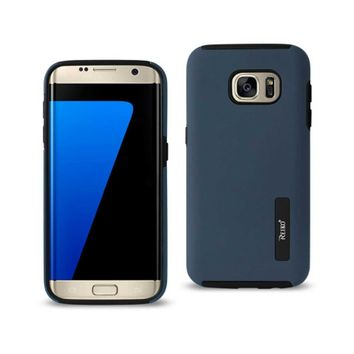 Samsung Galaxy S7 Edge Solid Armor Dual Layer Protective Case In Navy