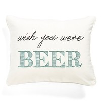 Levtex 'Wish You Were Beer' Pillow - Green