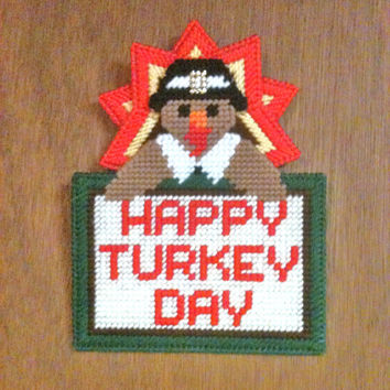 Turkey wallhanging needlepiont plastic canvas