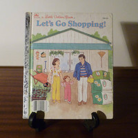 """Vintage 1988 Book """"Let's Go Shopping"""" - A little Golden Book / Kids Book / Shopping With Mum and Dad"""