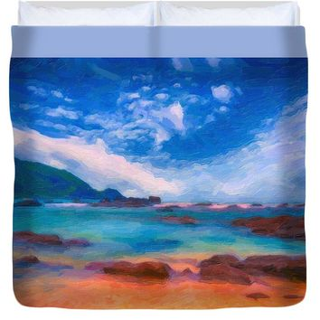 Tropical Coast Ca 2017 By Adam Asar - Duvet Cover