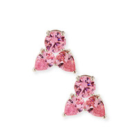 Fallon Monarch Pointed Cluster Stud Earrings, Pink