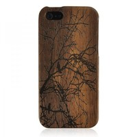 Wood iPhone 5 Case - Hand Carved Tree