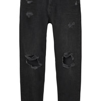 Monki | Trousers | Imoo black destroys