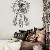 Vinyl Wall Decal Dream Catcher Dreamcatcher Bedroom Talisman Stickers Unique Gift (ig3517)