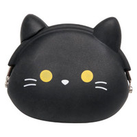 Kitty Coin Purse in Black EC14MS054