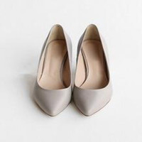 Cuban Heel Low Cut Uppers Single Women Genuine Leather Shoes With Thick Soles New Arrival For Office Pointed Toe High Heels