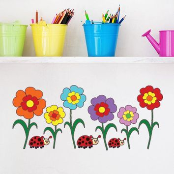Colorful Sunflowers Wall Decal