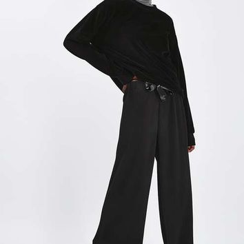 Plisse Slouch Trousers