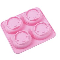 1pcs Cute Cartoon Hello Kitty Model 4 Grid 2 Kinds of Expression Cat Silicone Cake Mold Hand Soap Mold Fa3