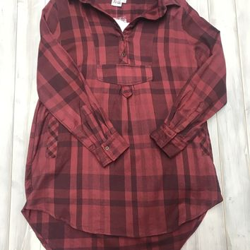 Plaid Tunic - Red FINAL SALE. NO RETURNS. NO EXCHANGES.