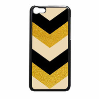 Chevron Classy Black And Gold Printed iPhone 5c Case