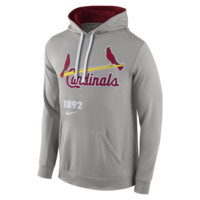 Nike Pullover (MLB Cardinals) Men's Performance Hoodie Size Small (Grey)