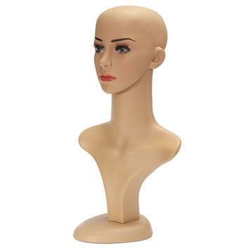 Female Mannequin Head Assembly Wig Hair Hat Jewelry Display Model