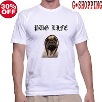 Pug life Shirts  funny cool  Tee  Shirt  Pug Life Shirt Dog  TShirt  I Love My Dog Long men T Shirts